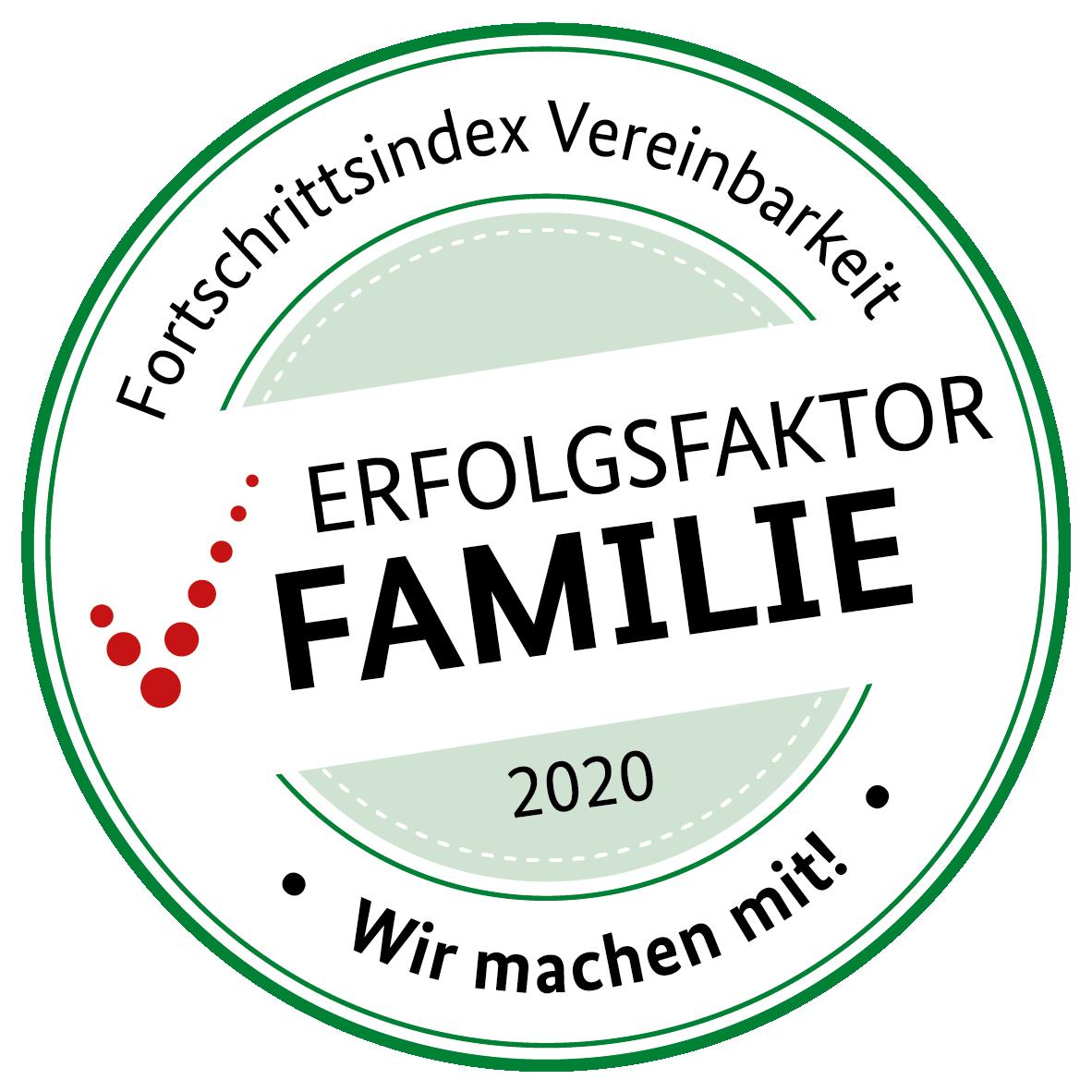 Teilnahmesiegel Vereinbarkeit Familie